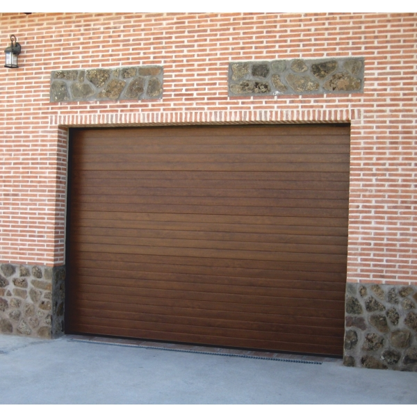 Porte de garage sectionnelle sirroco for Porte de garage pvc imitation bois