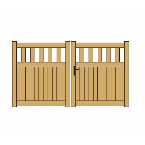 2 3 sous bassement plein portail battant aluminium for Aamis porte de garage