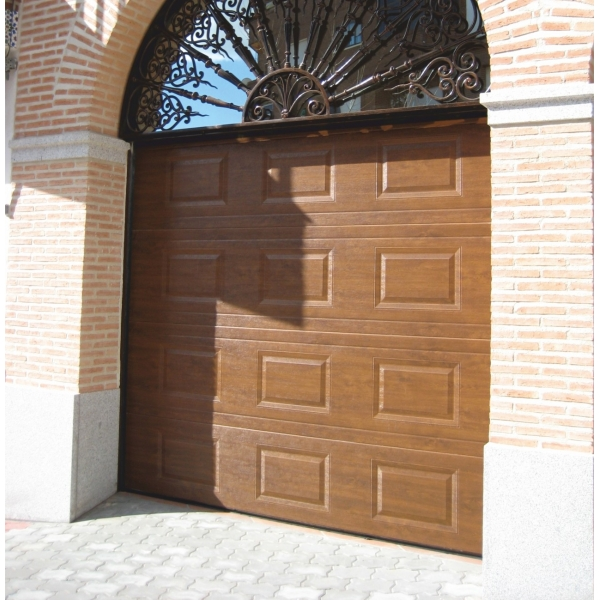 Porte de garage sectionnelle finition ext rieur for Porte de garage pvc imitation bois