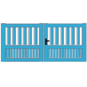 Portail et portillon battant nordet portes de garage sur mesure aamis - Portail battant 1 porte ...