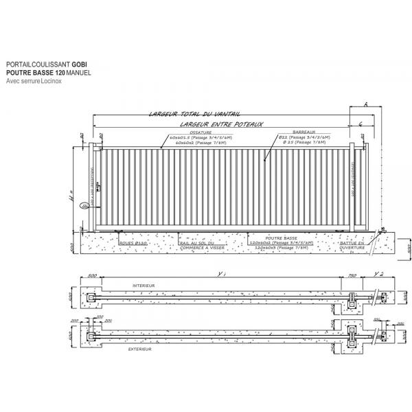 Portail industriel sur mesure gobi 8000 mm portes de for Aamis porte de garage