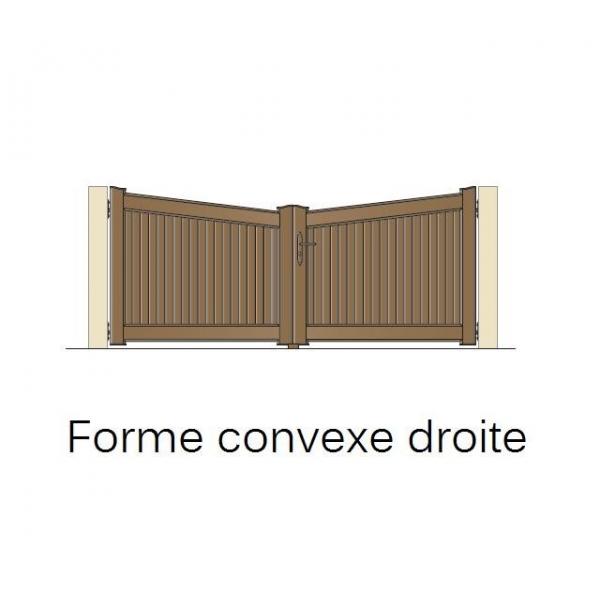 Portail en pvc jointif ouverture battante - Porte de garage battant isole ...