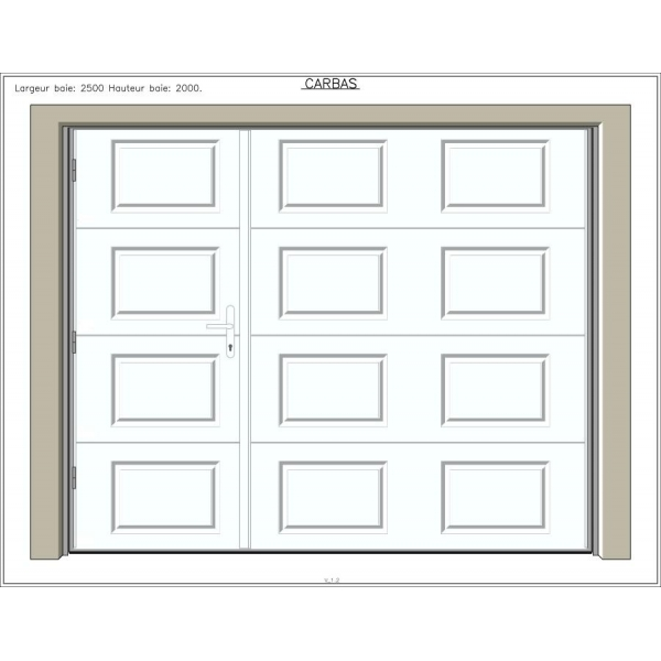Carbas 40 mm avec portillon portes de garage sur mesure aamis - Largeur porte garage ...
