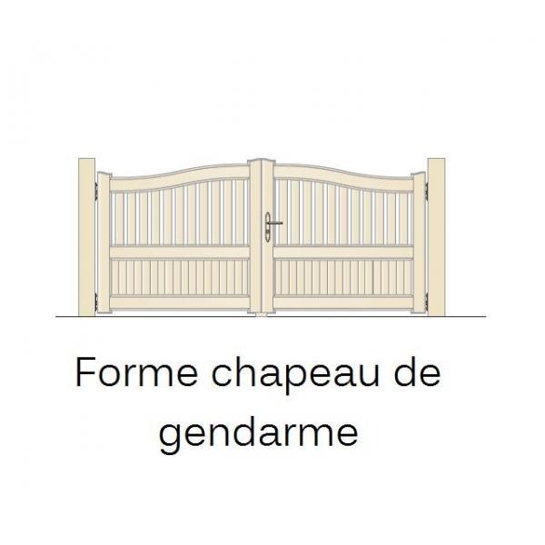 Portail en pvc semi jointif ouverture battante - Porte de garage battant pvc ...
