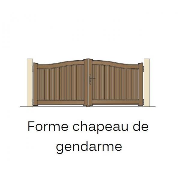 Portail en pvc jointif ouverture coulissante for Peindre une porte de garage en pvc