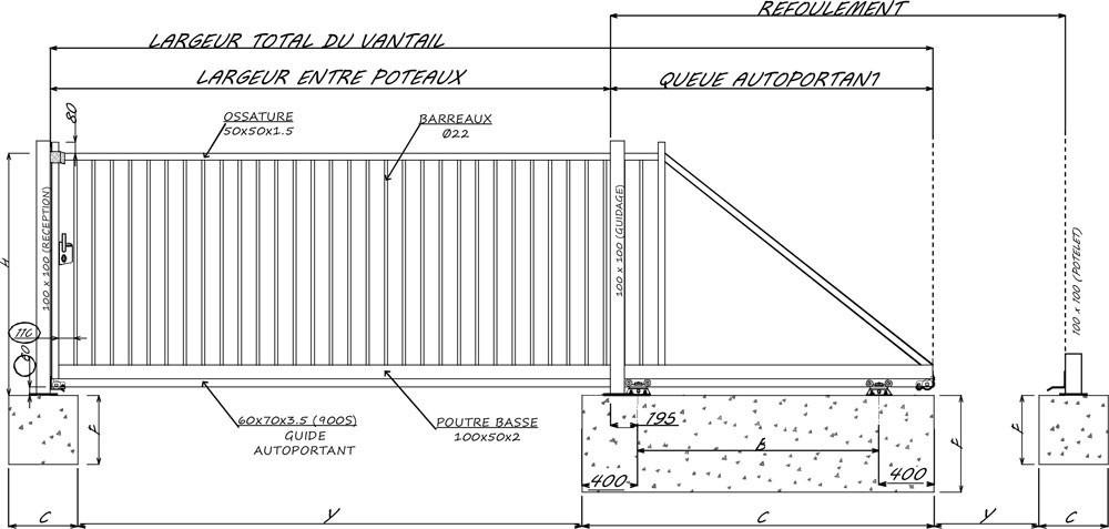 Portail Autoportant Thar Portes De Garage Sur Mesure Aamis